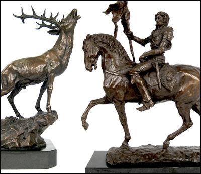 Hot Cast Bronze Figurines