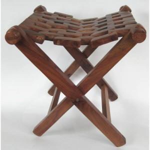 Sheesham Wood Folding Stool