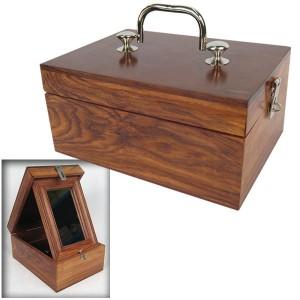 Sheesham Wood Makeup Box - Internal Mirror
