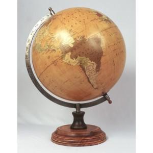 World Globe On Wooden Base 44cm