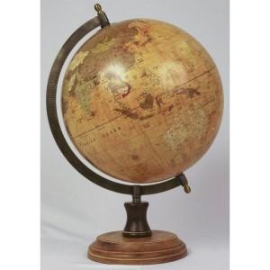 World Globe On Wooden Base 40cm