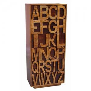 Acacia Lisbon Alphabet 6 Drawer Tallboy