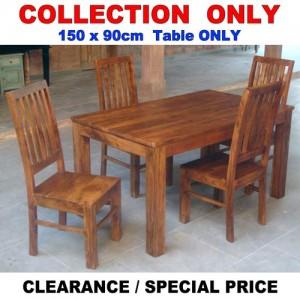 Acacia Lisbon Dining Table 150x90cm + 4 Chairs