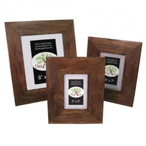 Mango Wood Photo Frames - Set/3