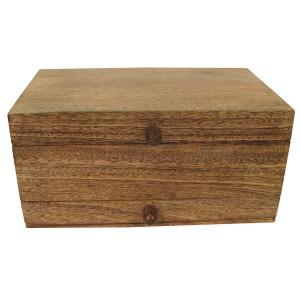 Mango Wood Plain Top Jewellery Trinket Vanity Box