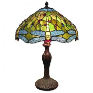 Dragonfly Tiffany Table Lamp (Large) + Free Bulbs