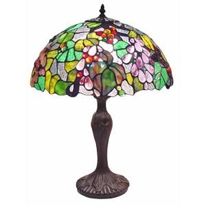 Embossed Grape Tiffany Lamp Free Bulb - 56cm