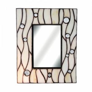 Sea Bubble Design Leaded Glass Mirror