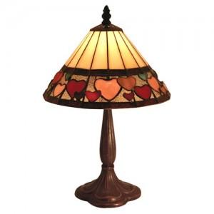 Hearts Design Tiffany Table Lamp (Medium) Free Bulb