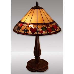 Hearts Design Tiffany Table Lamp (Large) Free Bulb