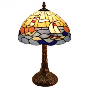 Sea Scene Tiffany Lamp + Free Bulb