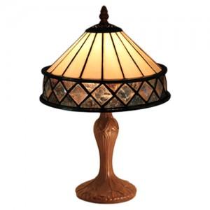 Art Deco Diamond Design Tiffany Lamp Free Bulb 32cm