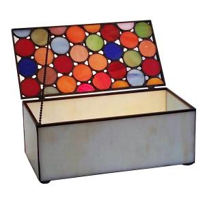 Spot Design Tiffany Style Glass Trinket Jewellery Box