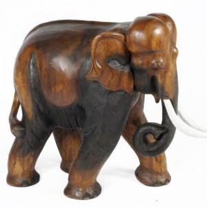 Acacia Wood Elephant 40cm