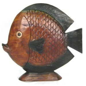 Acacia Wood Fish - 51cm
