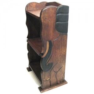 Acacia Wood Elephant Bookcase