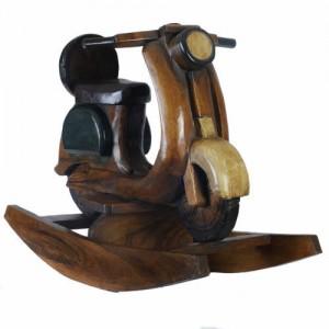 Acacia Wood Rocking Scooter