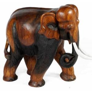 Acacia Wood Elephant Carving 66cm