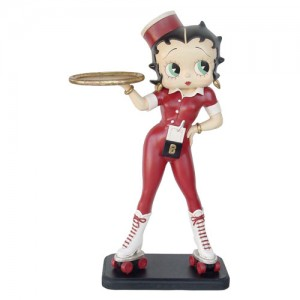 Large Betty Boop Roller skate Waitress With Tray - 5ft