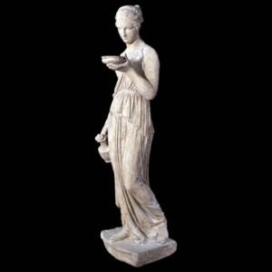 Hebe Goddess Resin Statue - Roman Stone Finish