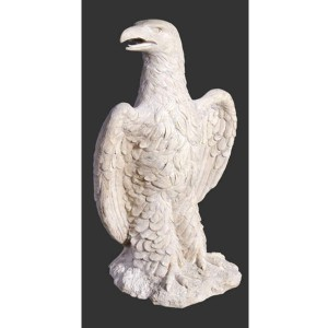 Guardian Eagles Resin Statues Stone Finish - Set of 2