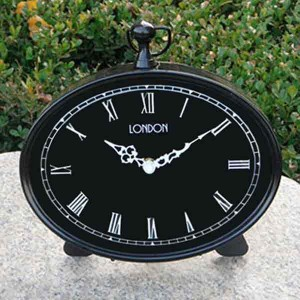 Black Finish Mantle Clock