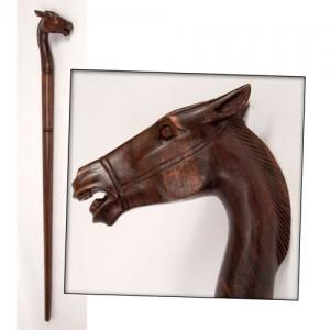 Sono Wood Horse Head Walking Stick