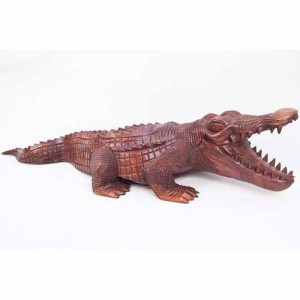 Suar Wood Crocodile - 50cm