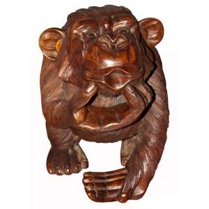 Suar Wood Monkey - 20cm