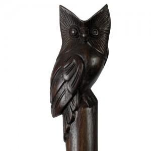 Sono Wood Owl Walking Stick