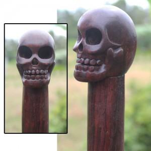 Sono Wood Skull Handle Walking Stick