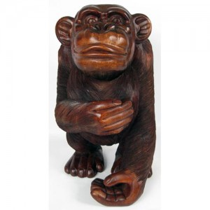 Suar Wood Monkey - 62cm