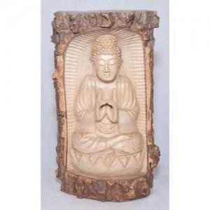Crocodile Wood Thai Buddha Trunk Carving - 30cm