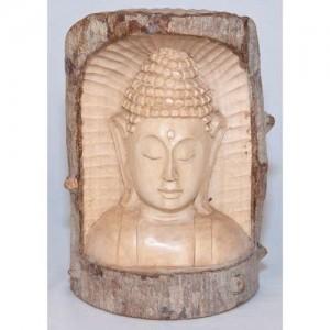 Crocodile Wood Thai Buddha Trunk Carving - 20cm