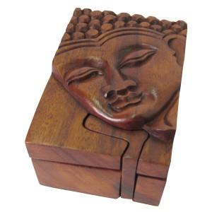 Suar Wood Buddha Puzzle Box