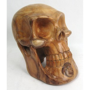 Suar Wood Skull - 30cm