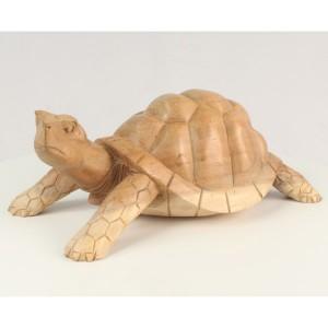 Suar Wood Tortoise/Turtle Natural Finish - 30cm