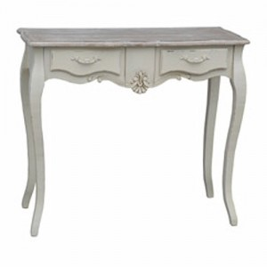 Loire Range Antique Cream French Style 2 Drawer Dressing Table