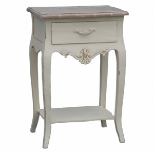 Loire Range Antique Cream French Style 1 Drawer Bedside Table