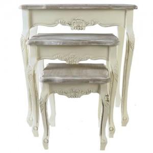 Victorian Range Cream Nest Of Tables