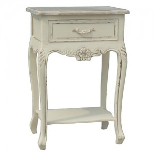 Victorian Range Cream French Style 1 Drawer Bedside Table