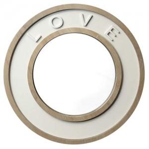 Round 'Love' Mirror 42cm