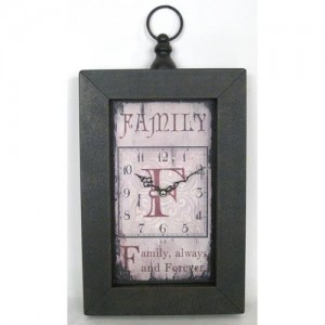 Family Oblong Wall Clock