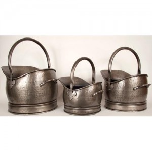 Classic Scuttle - Antique Pewter Finish (LARGE ONLY)