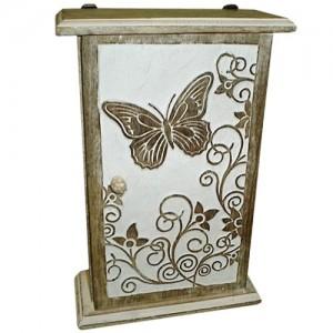 Mango Wood Butterfly Design Key Box