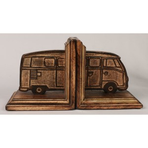 Mango Wood Camper Van Design Bookends