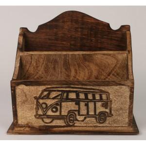 Mango Wood Camper Van Design Letter Rack