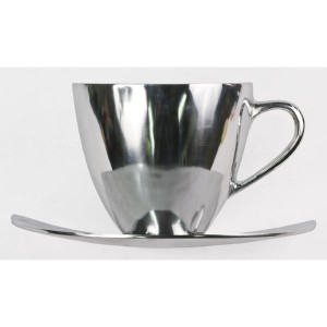 Aluminium Tea/Coffee Cup Wall Hanging Art - 38.5cm