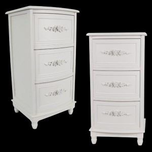 White Chest of 3 Drawers (PAIR)