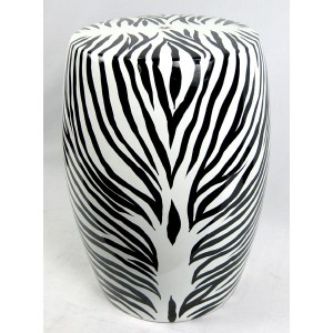 Zebra Ceramic Stool Garden Seat